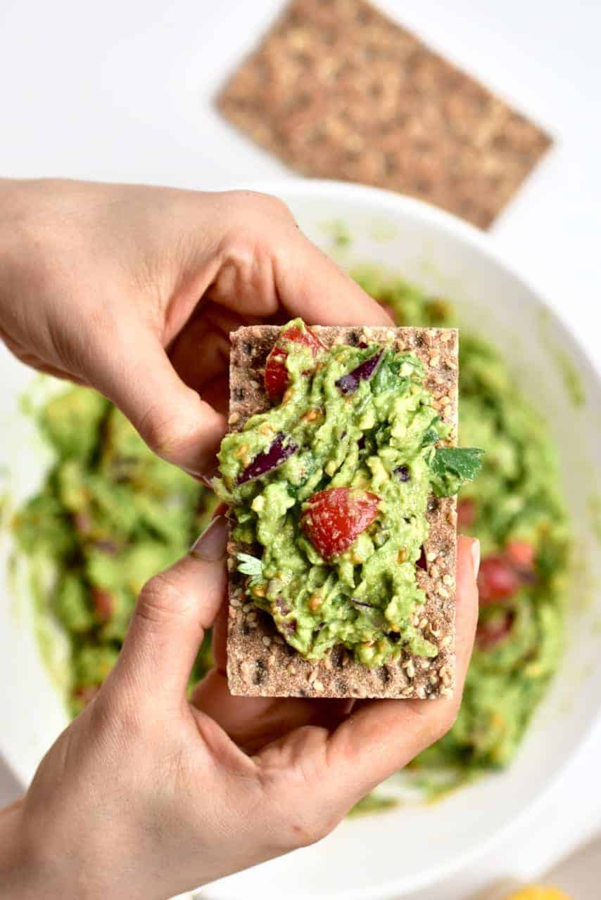 Guacamole served on toast