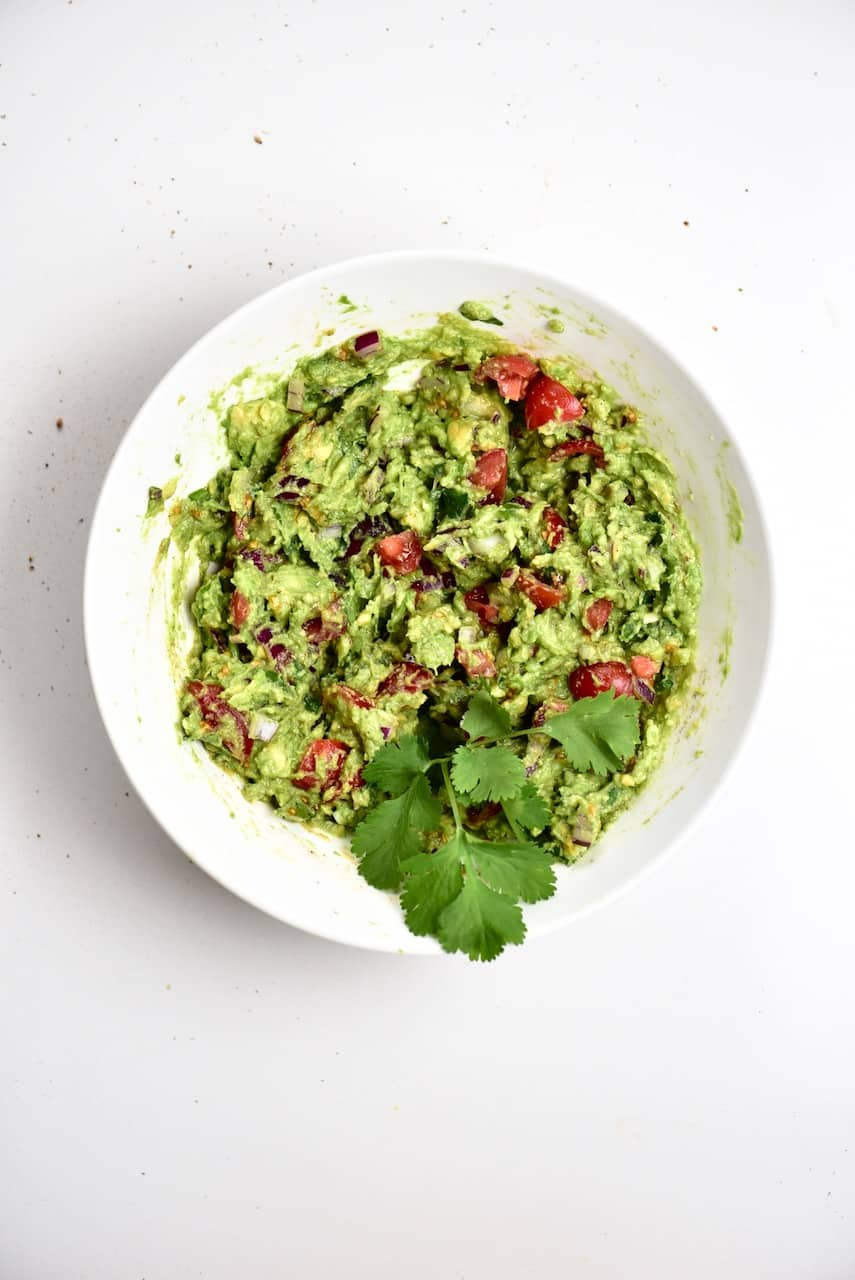 Guacamole in a bowl