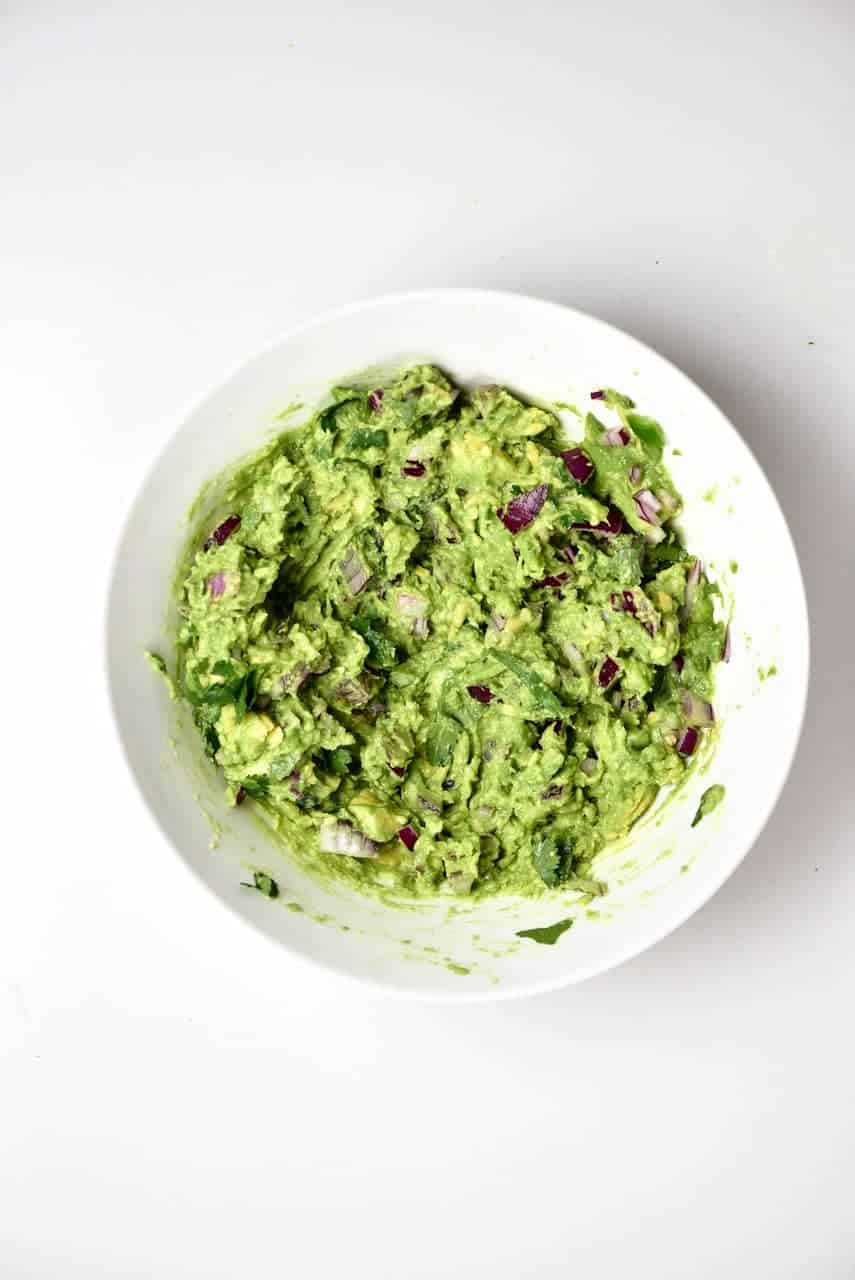A bowl of Traditional Mexican Guacamole