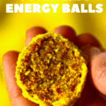 Turmeric Energy ball held with hands