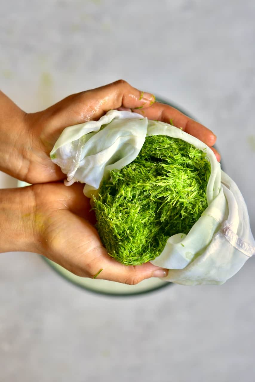 Wheatgrass pulp