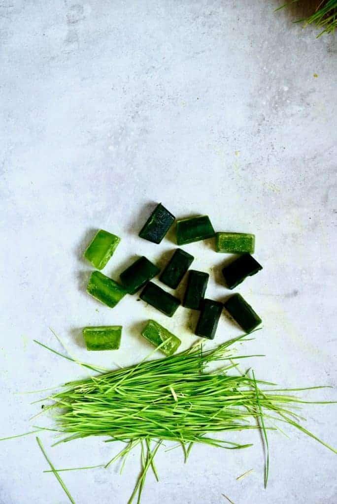 Frozen Wheatgrass shots