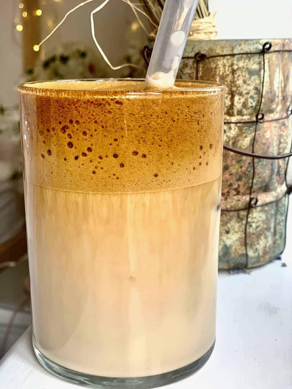 Homemade Frothy Dalgona Latte