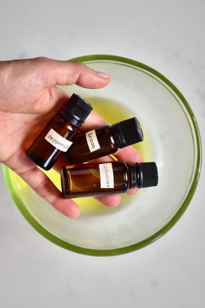 Adding essential oils