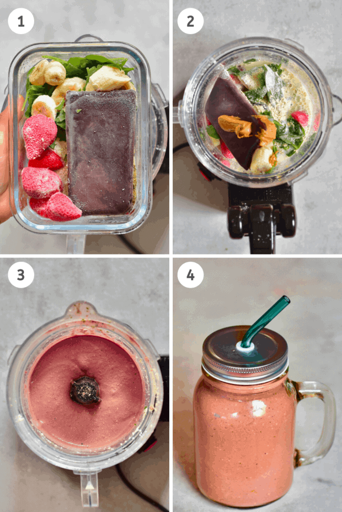 Açai Smoothie Steps