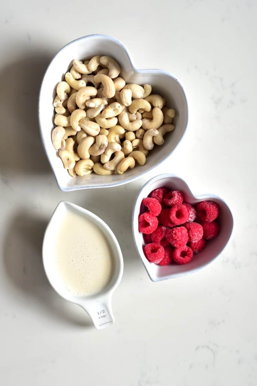Ingredients for raspberry layer