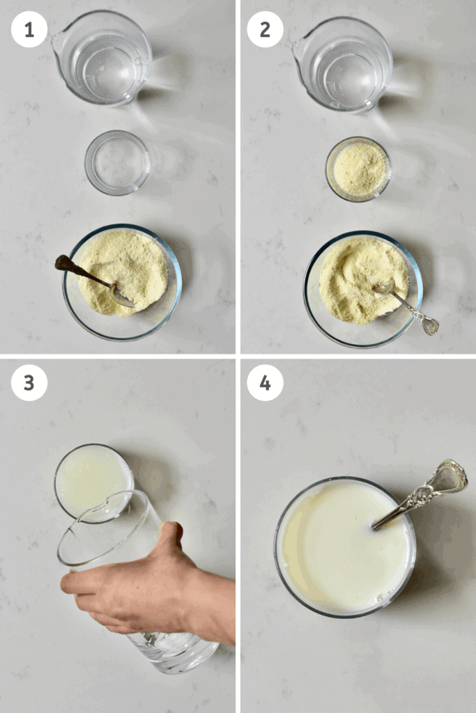 Dehydrated Milk Steps