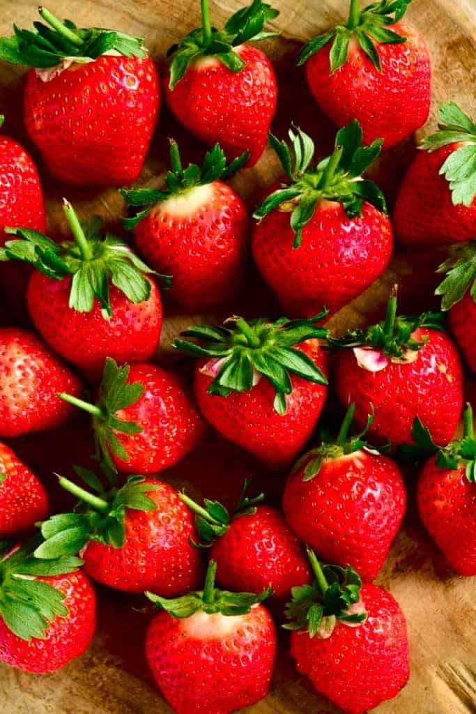 Strawberries for detox water