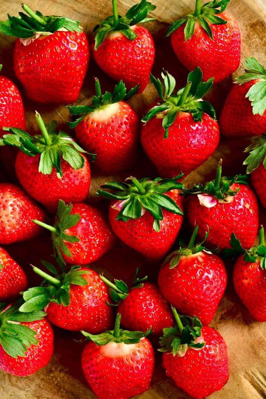 Strawberries for detox water