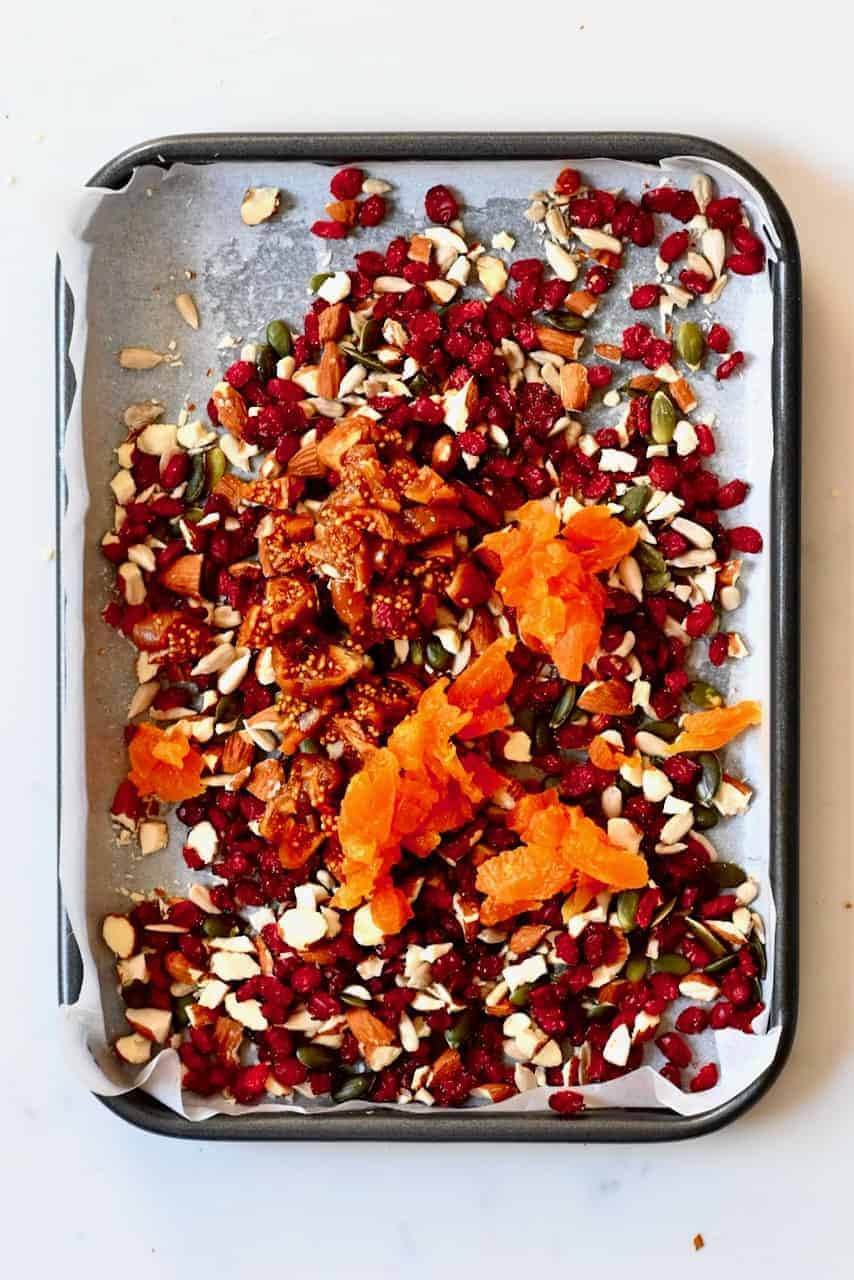 More dried fruit added to tray