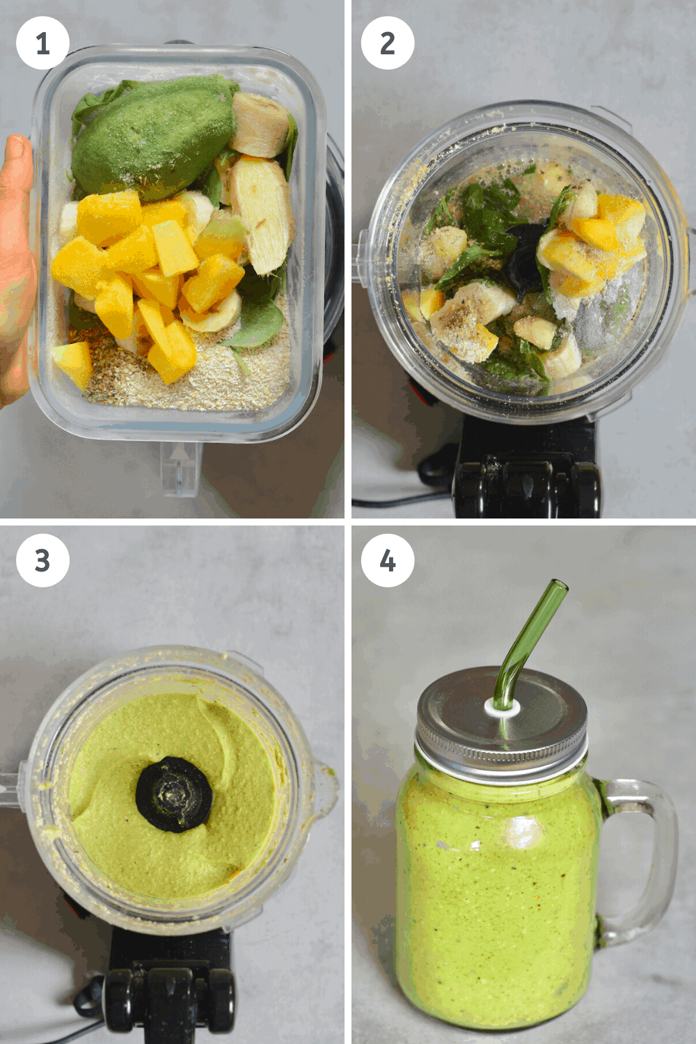 Green Smoothie Steps