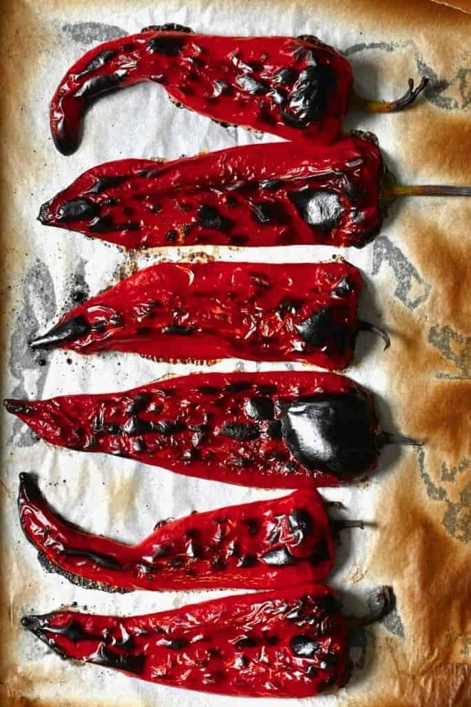 Roasted peppers for homemade Muhammara
