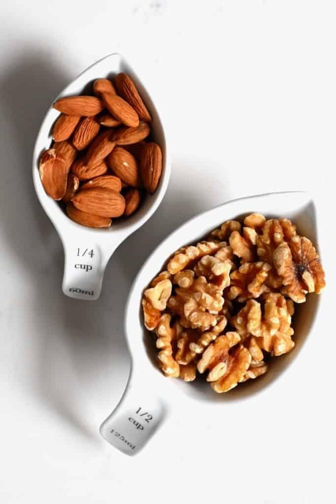 Almond and walnuts for Muhammara