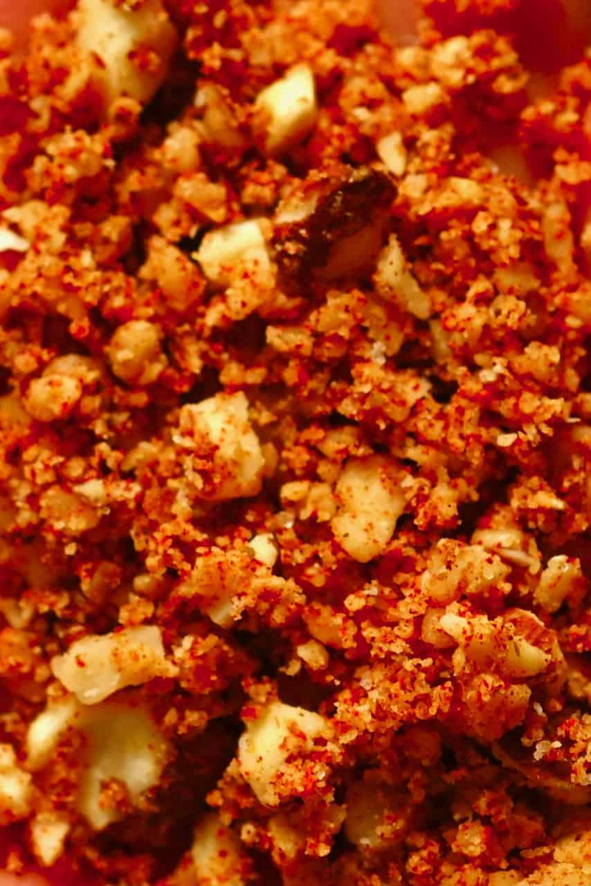 Homemade Muhammara mix