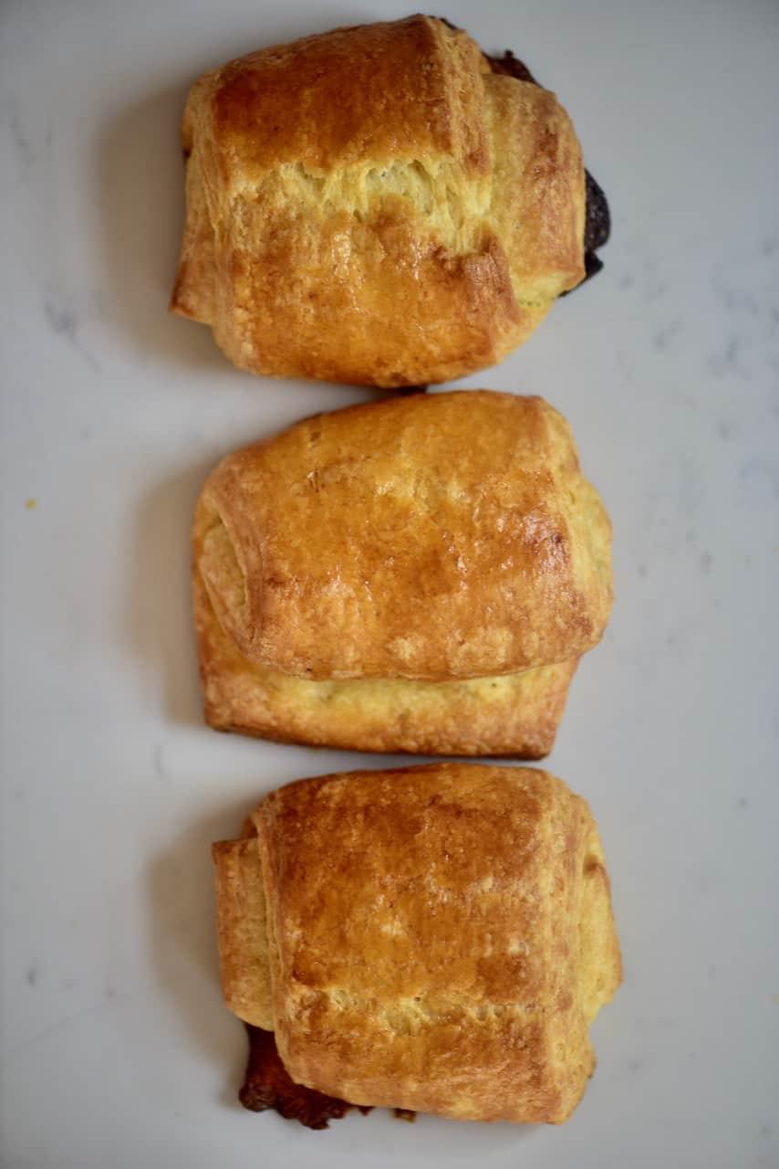 Chocolate filled croissant pain au chocolat