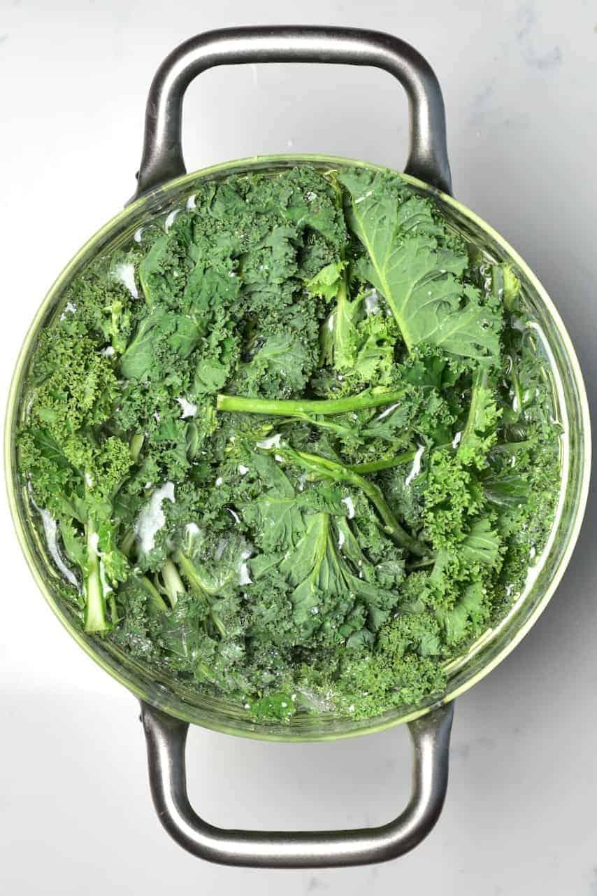 Soaking kale
