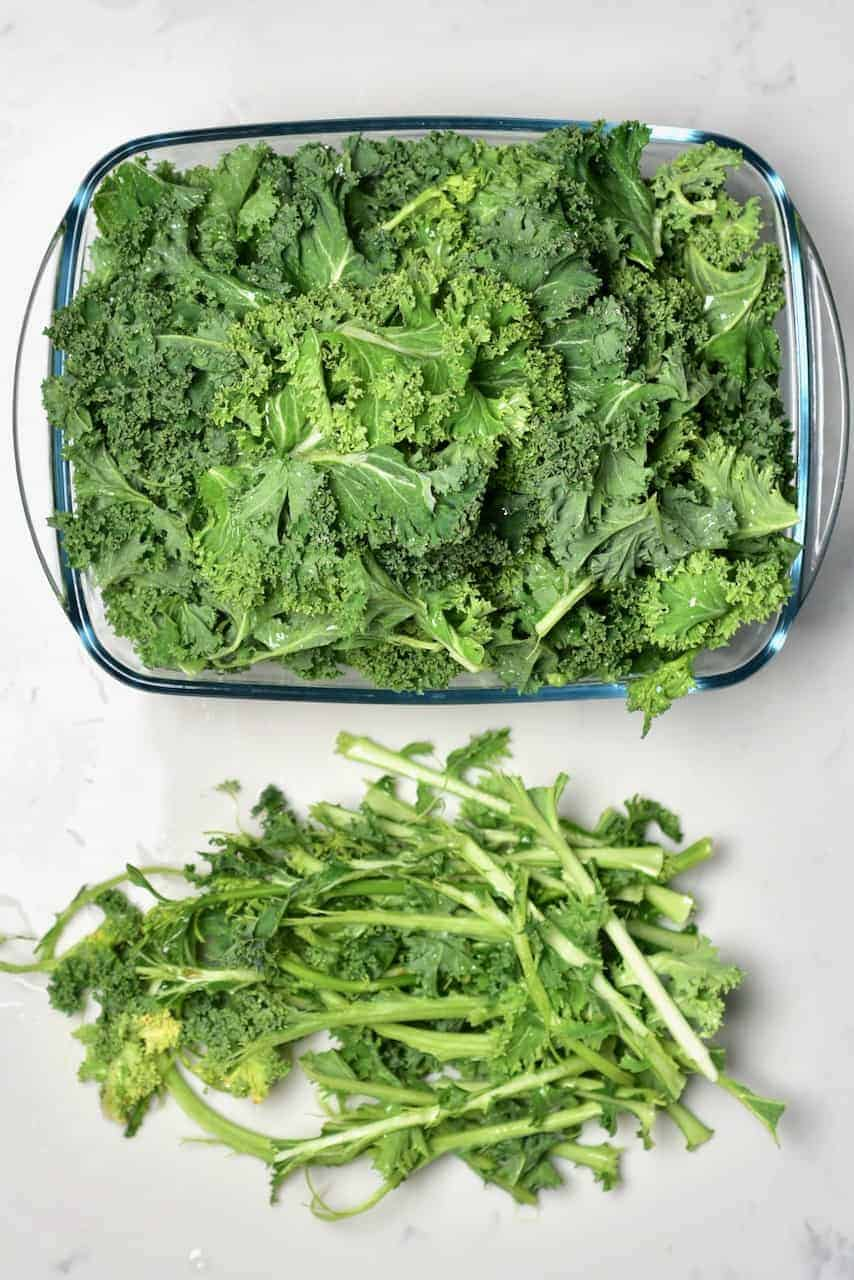 Kale with removed stems