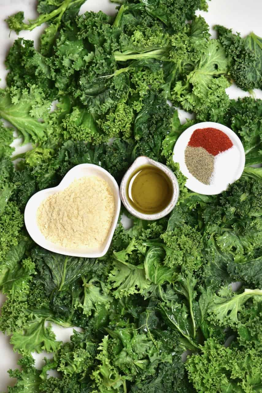 Kale and spices