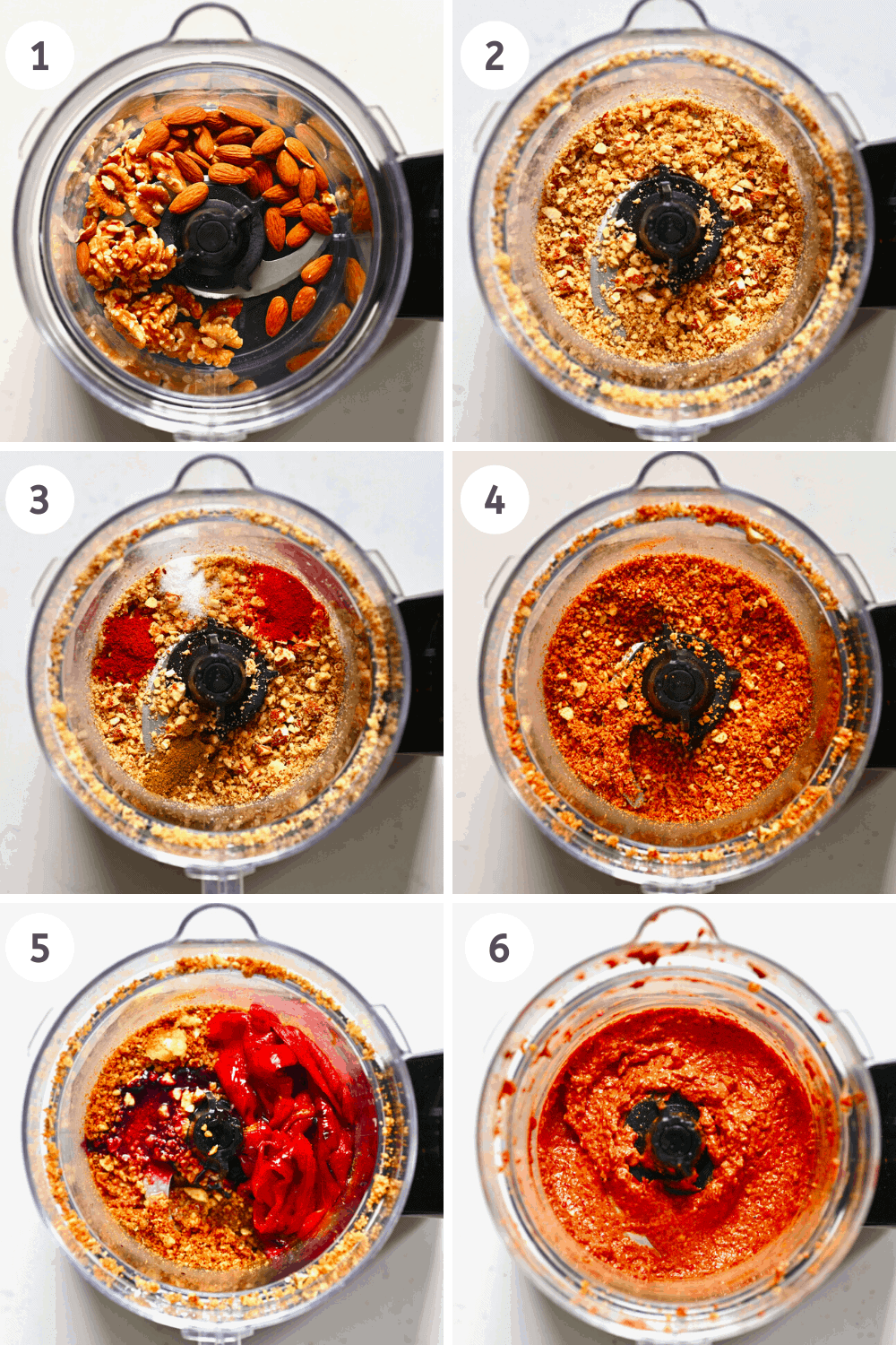 Muhammara Blending Steps 1