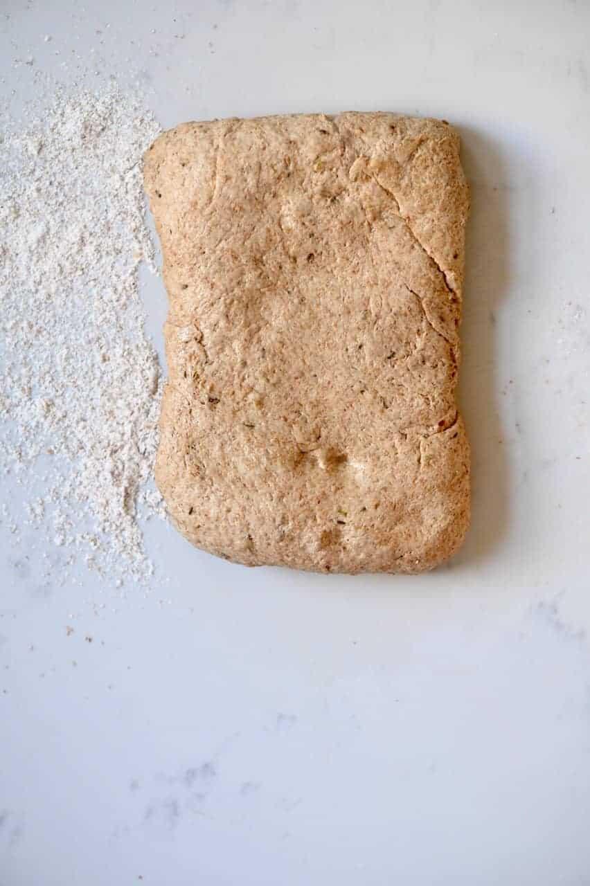Shaped bread dough