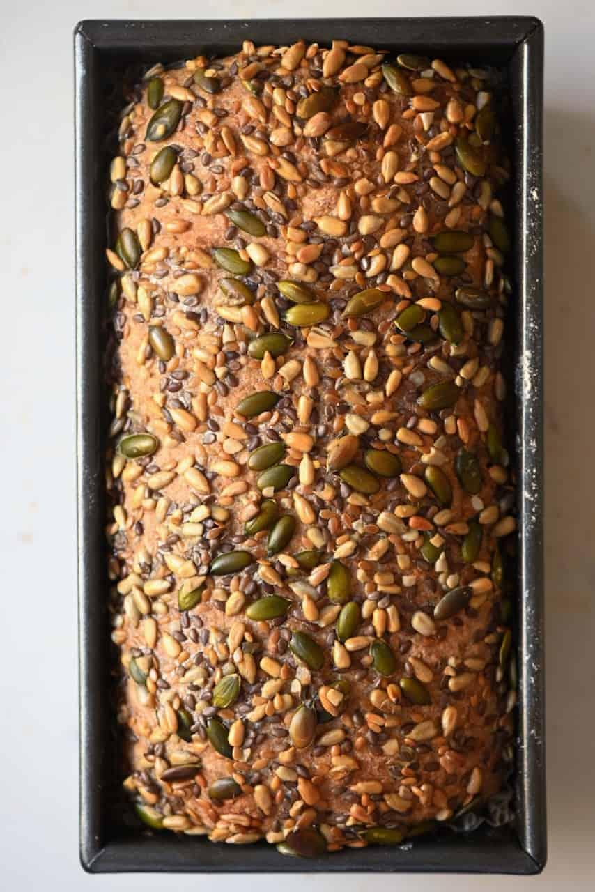 Baked multi grain bread