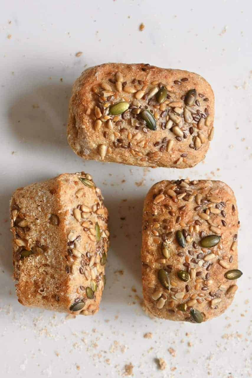 Multi grain bread loafs