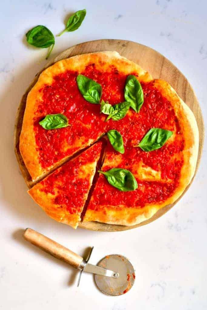 Tomato basil Neapolitan pizza
