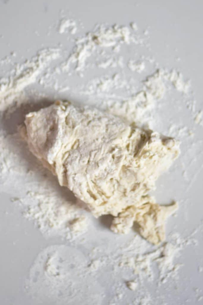 Kneading Pita bread dough