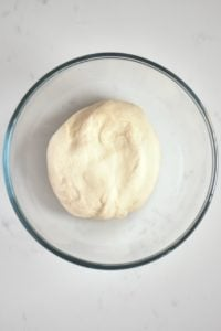 Pita bread dough in a bowl