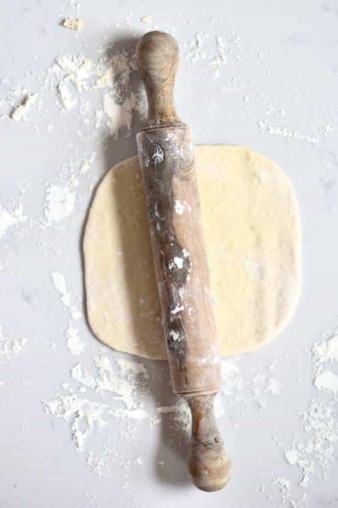 Rolling Pita bread dough