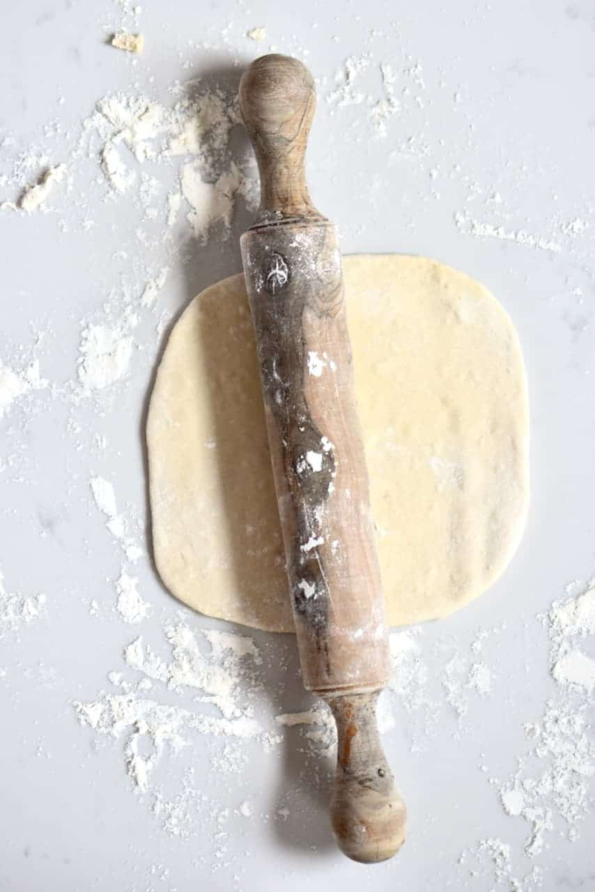 Rolling Pita bread dough