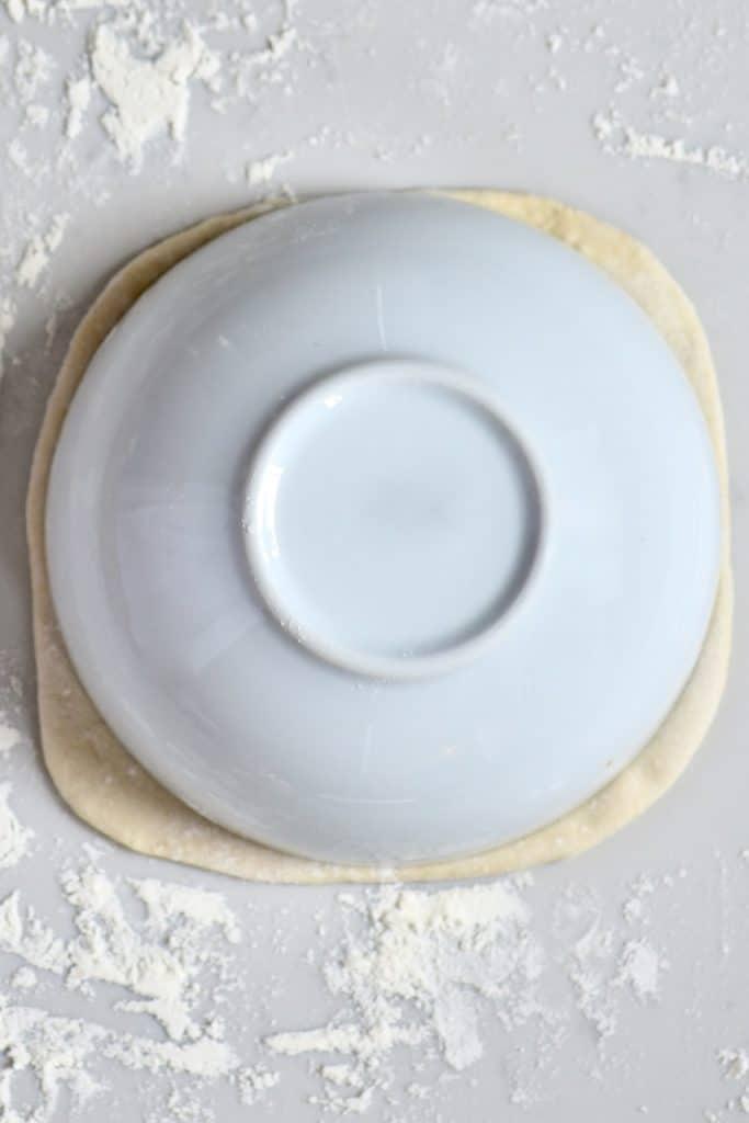 Shaping Pita bread dough