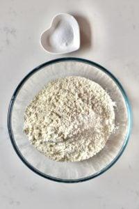 Flour and salt for pita bread
