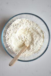 Mixed flour and salt