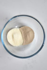 Mixing yeast and sugar