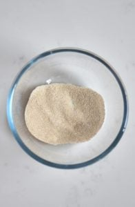 Mixed yeast and sugar