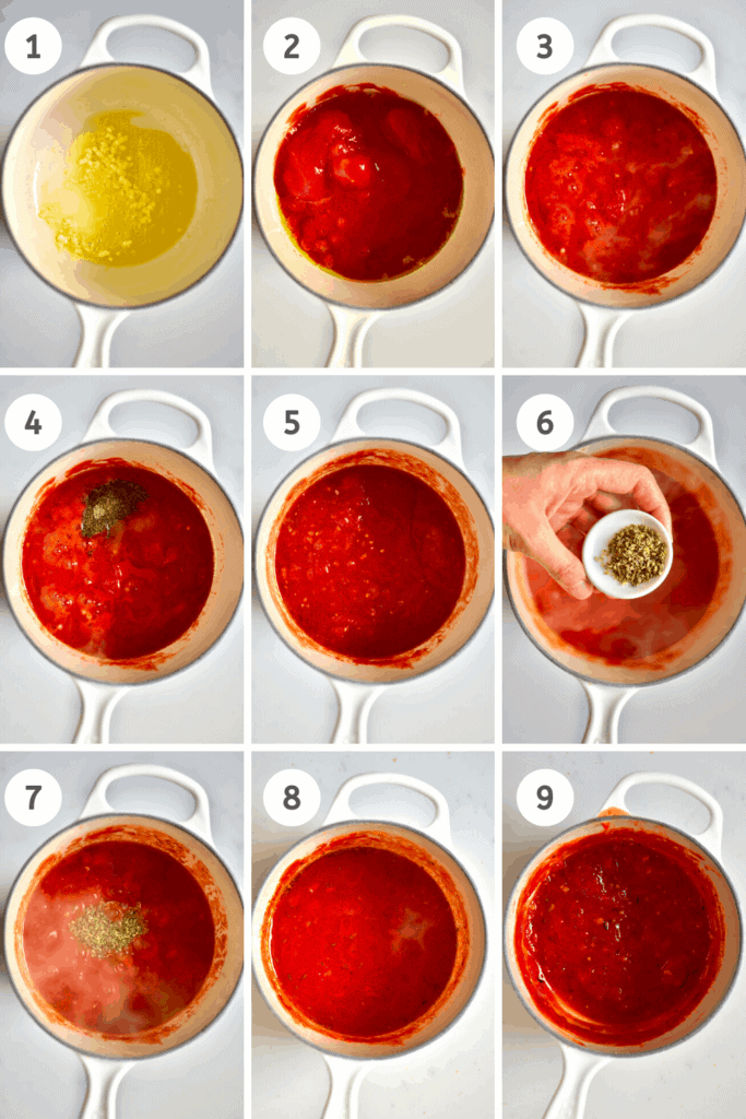 Steps to making tomato sauce for Pizza