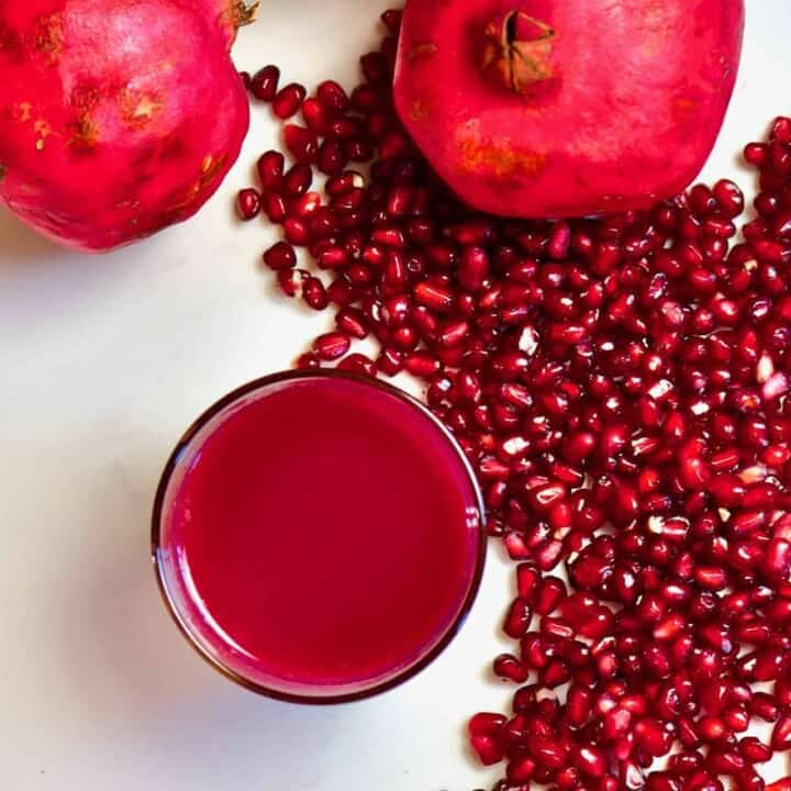 Square pomegranate juice
