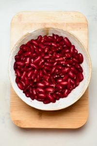 Red Kidney Beans in a plate