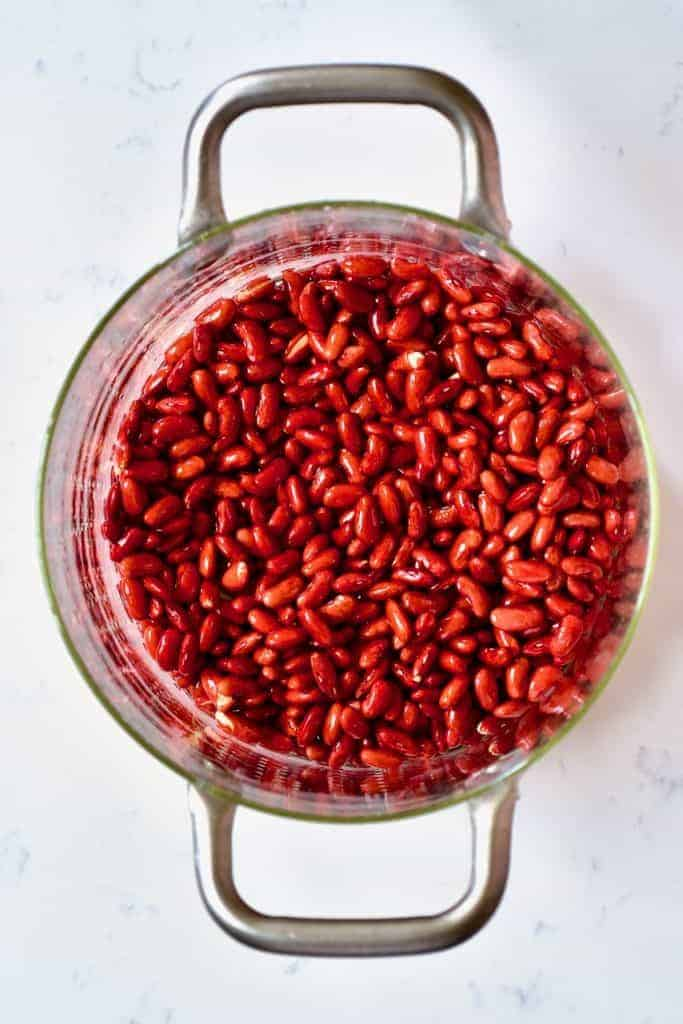 Soaking Red Kidney Beans