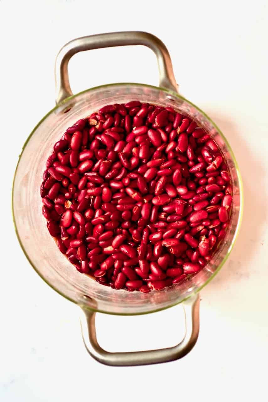Red Kidney Beans in a pot