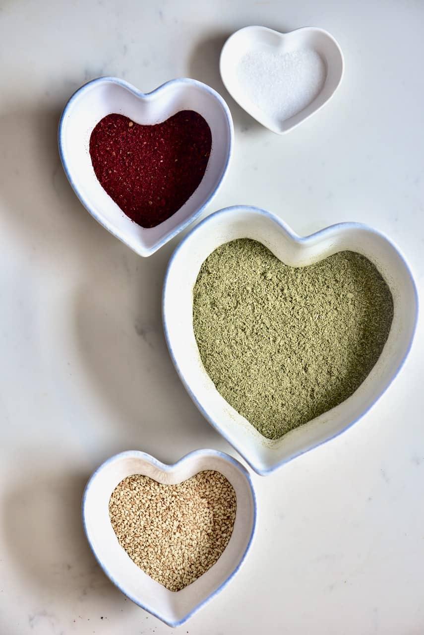 Ingredients for Zaatar spice ( za'atar)