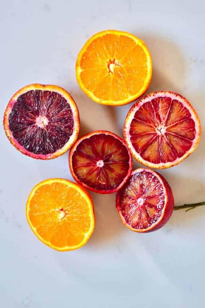 Orange and blood orange