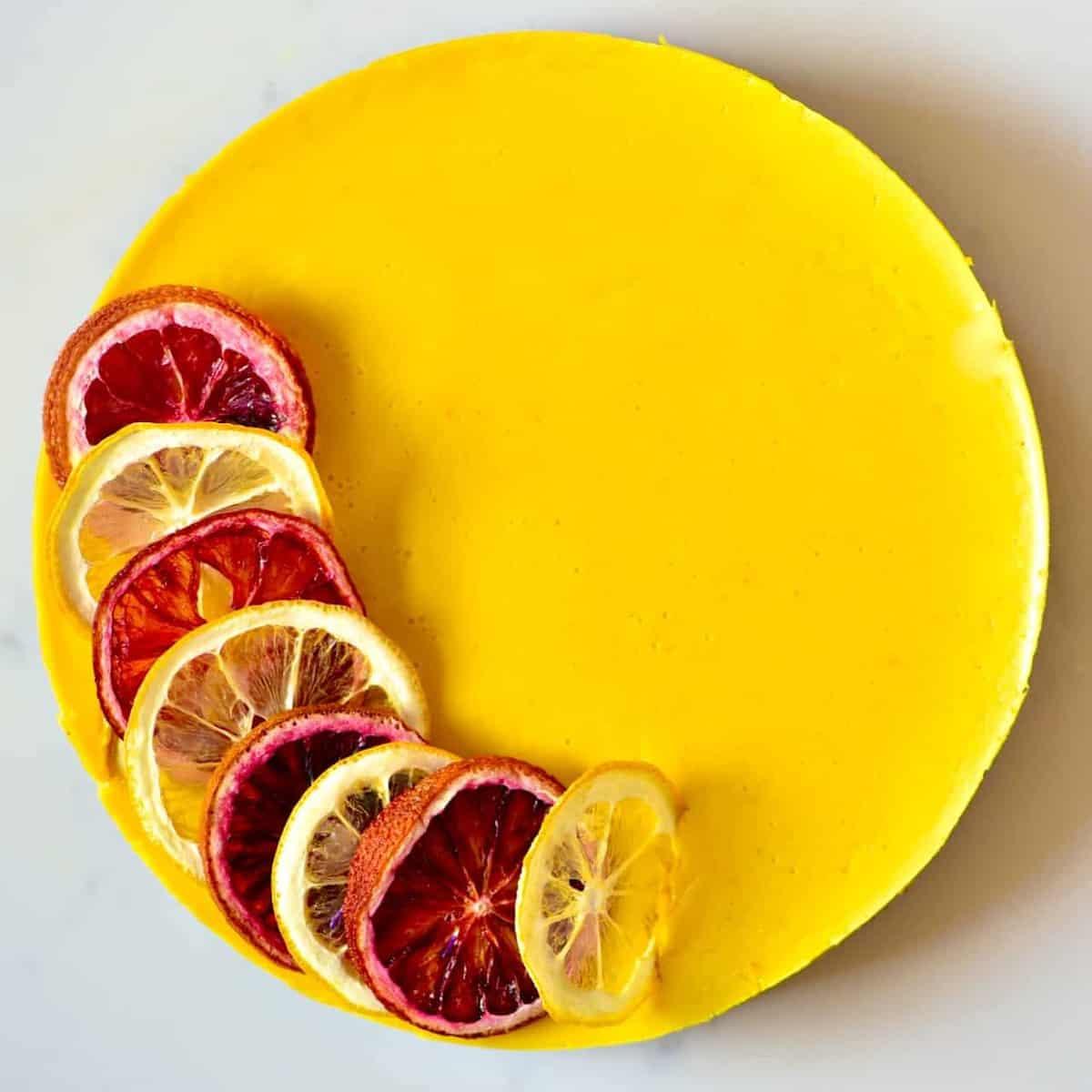 Square photos Turmeric Citrus Tart