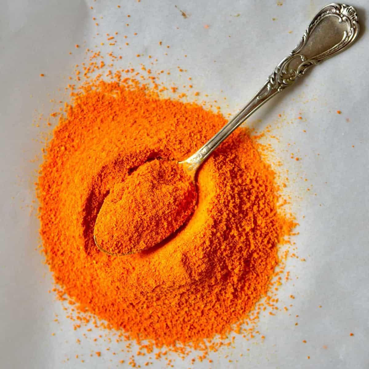 Square photo turmeric powder