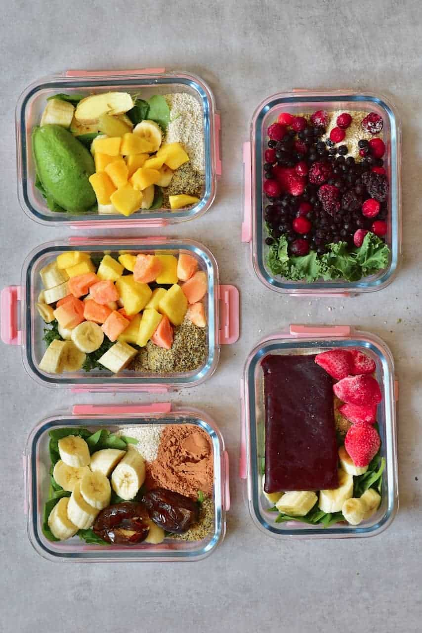 Smoothie meal prep
