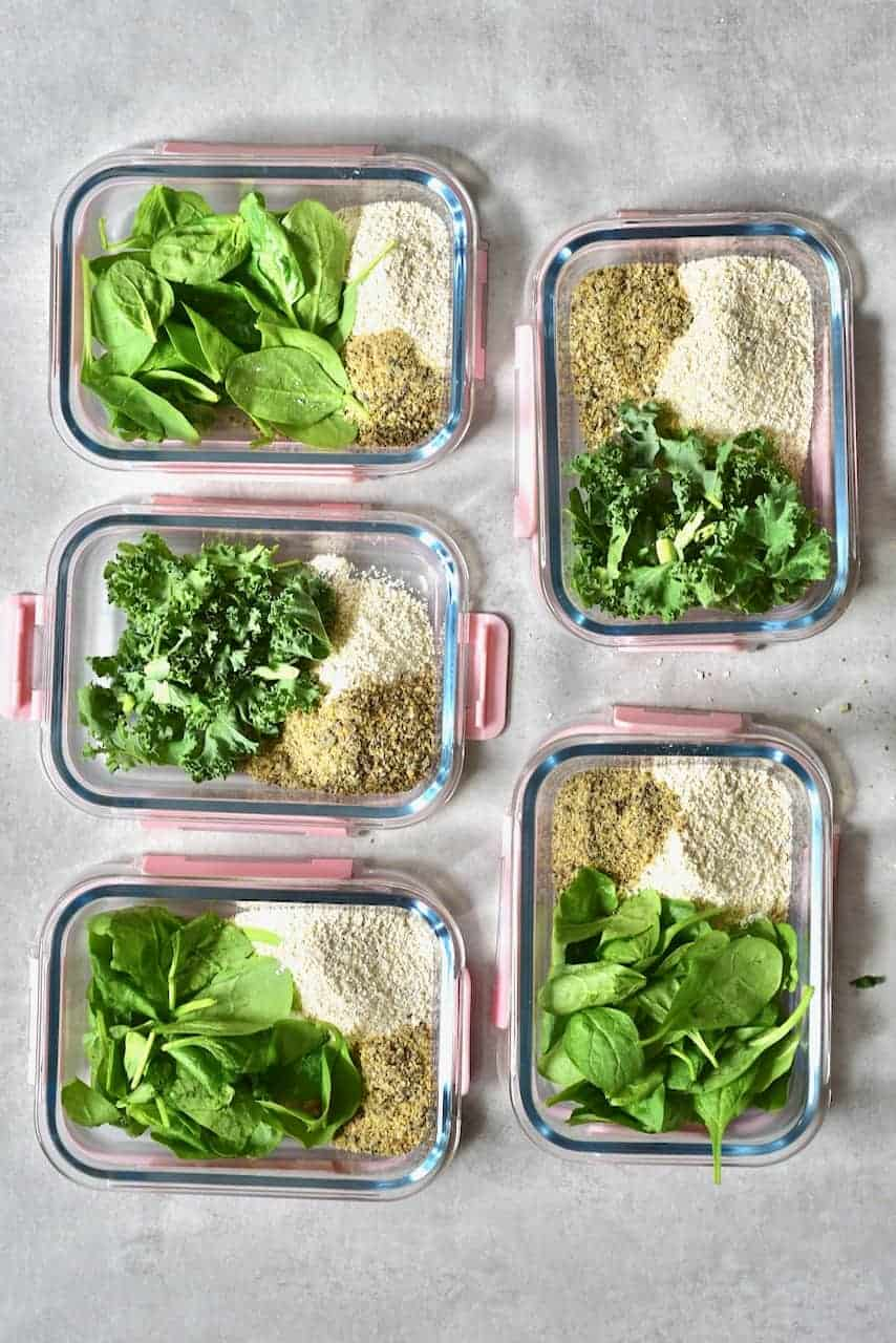 Spinach and Kale for smoothies