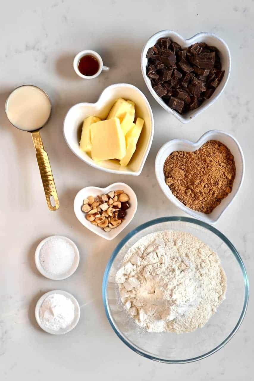 Ingredients for Vegan Chocolate Chip Cookies