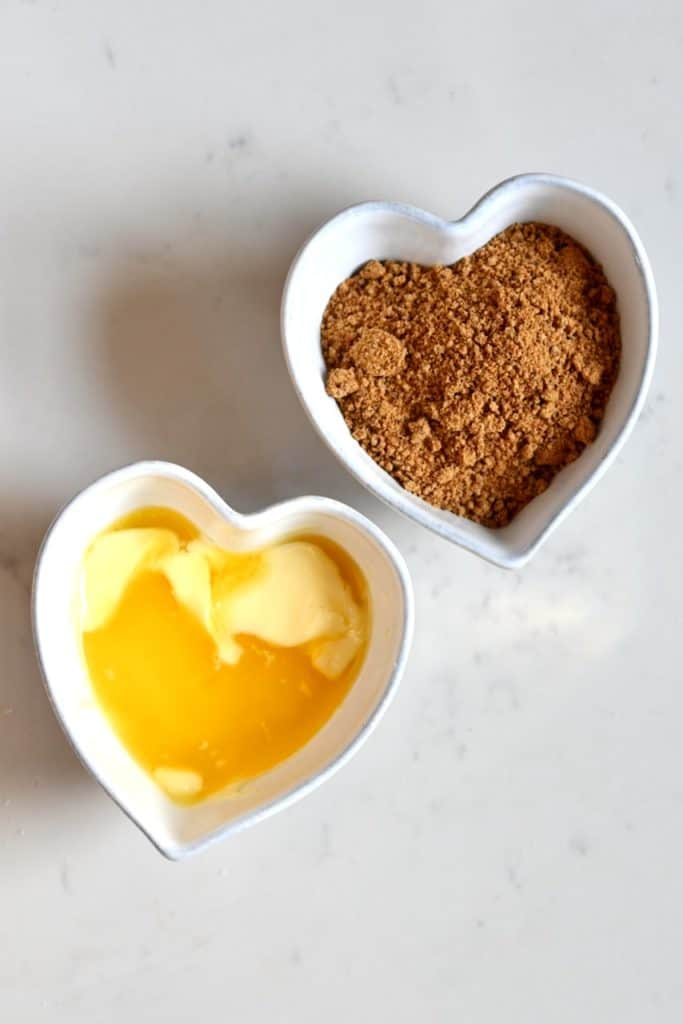 Sugar and vegan butter