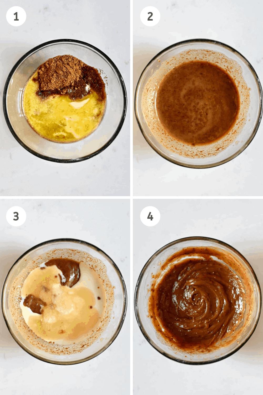 Vegan Cookie Steps to mixing ingredients